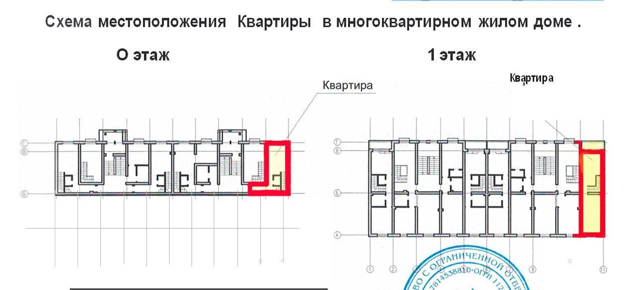 Схемы расположения квартир на этаже